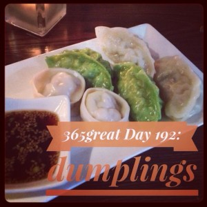 365great challenge day 192: dumplings
