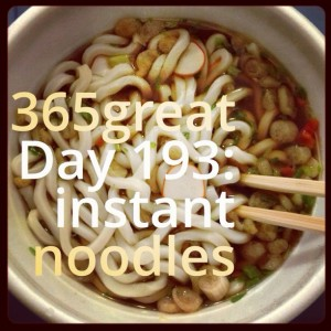 365great challenge day 193: instant noodles