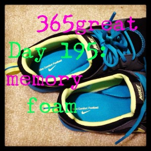 365great challenge day 195: memory foam