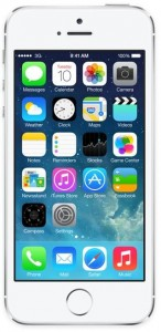 screenshot of apple iphone 5 showing new ios 7 operating system