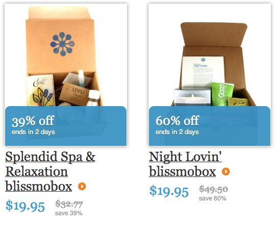 blissmobox valentine's day sale box choices splendid spa & relaxation and night lovin'