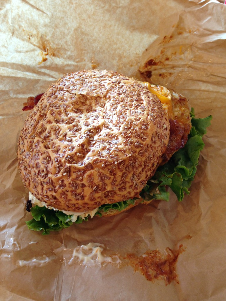 giant hangover turkey burger from be right burger