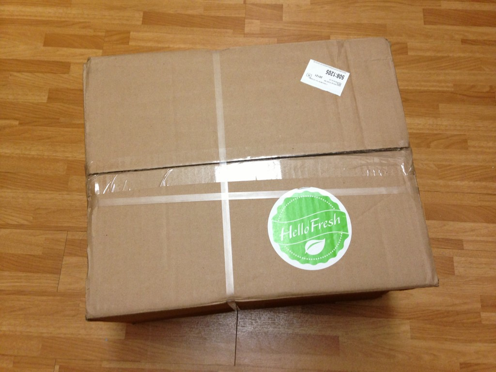 hello fresh large cardboard box