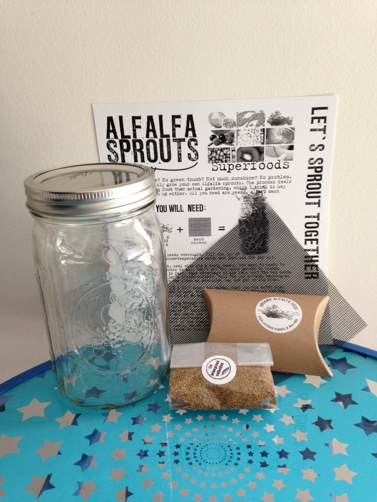 the homegrown collective august 2013 products for growing alfalfa sprouts with instruction sheet