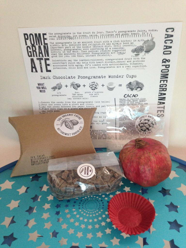the homegrown collective august 2013 products for dark chocolate pomegranate wonder cup snacks with instruction sheet