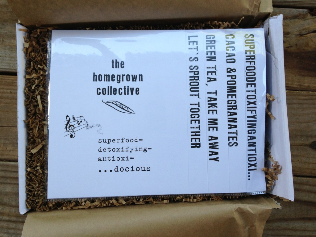 the homegrown collective august 2013 info sheets in plastic insert