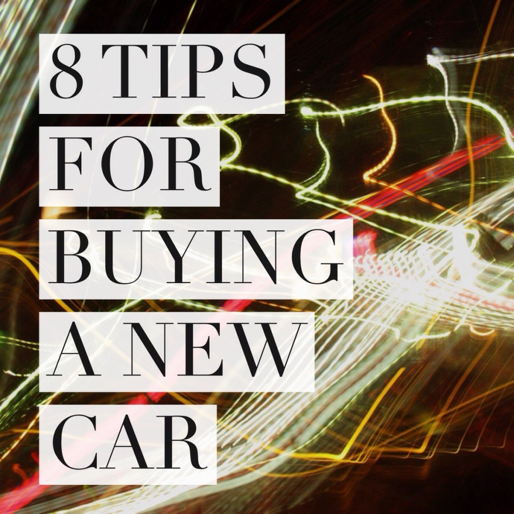 8 tips for buying a new car graphic