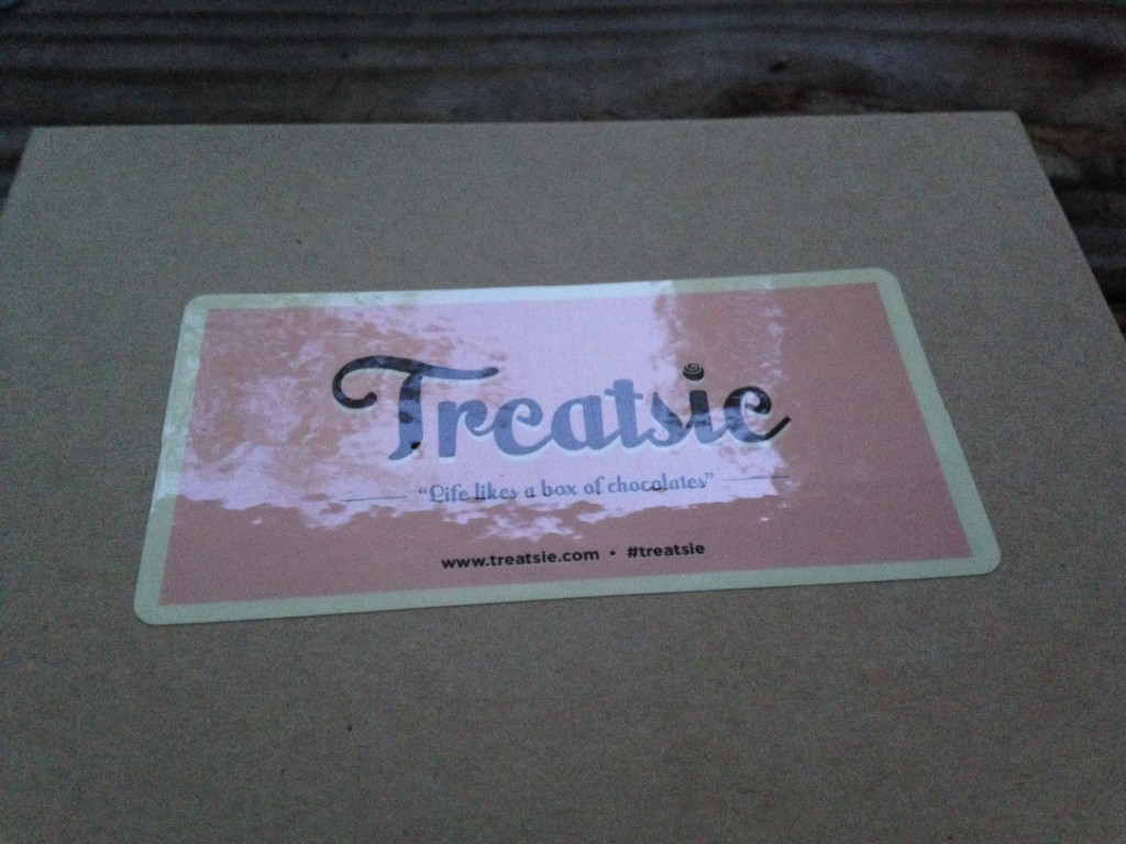 new shiny label on treatsie box artisan candy subscription