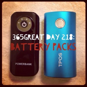 365great day 218: battery packs