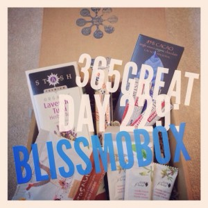 365great challenge day 229: blissmobox