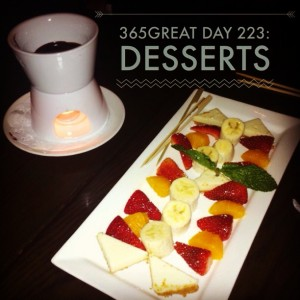 365great challenge day 223: desserts