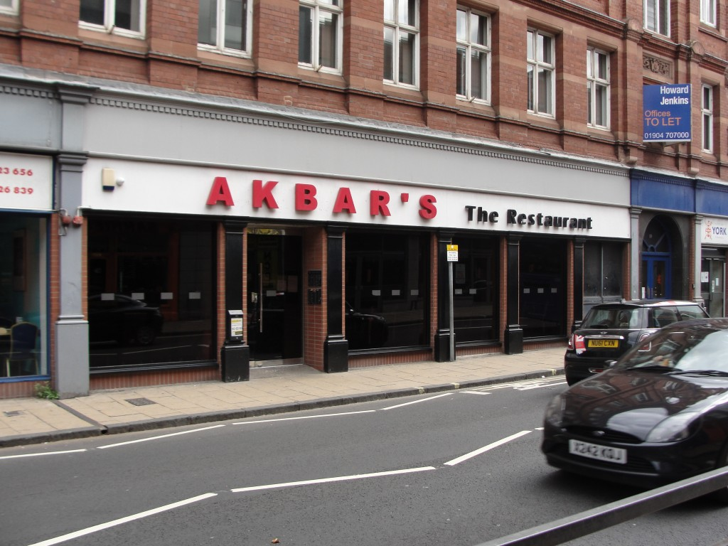 akbar's restaurant in york