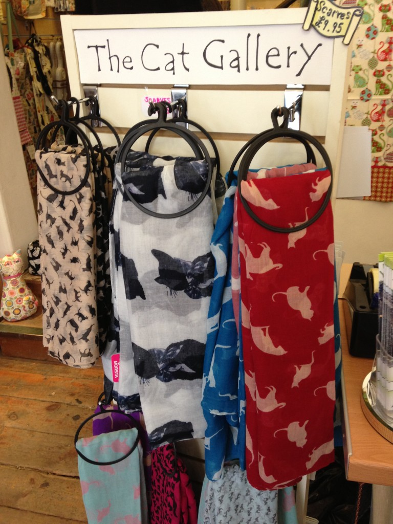 cat scarves at the cat gallery in york uk
