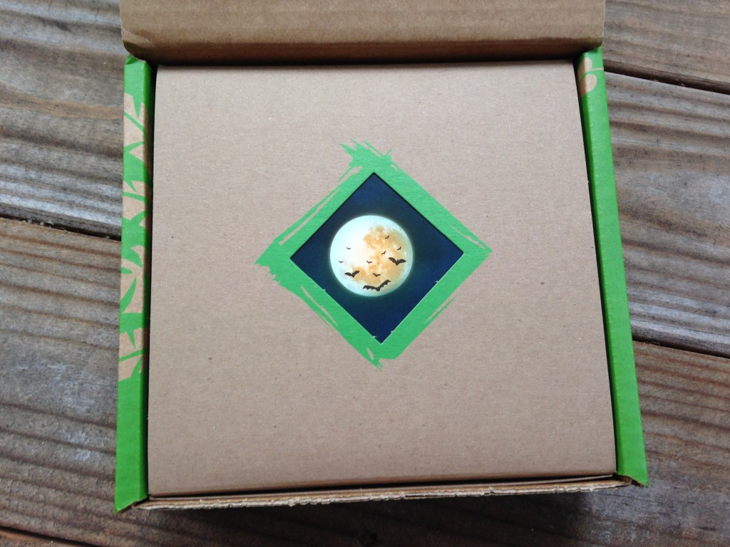 inside box of conscious box october with moon design