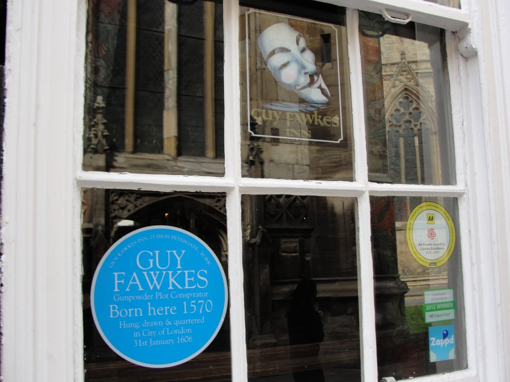guy fawkes born here sign in window