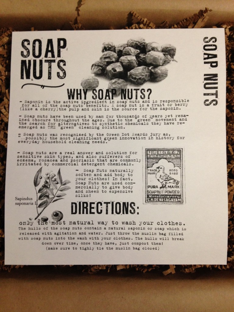 the homegrown collective september 2013 project washing with soap nuts info card