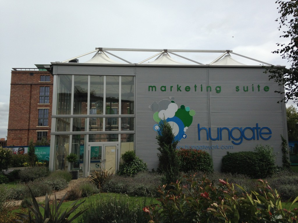 large marketing suite building