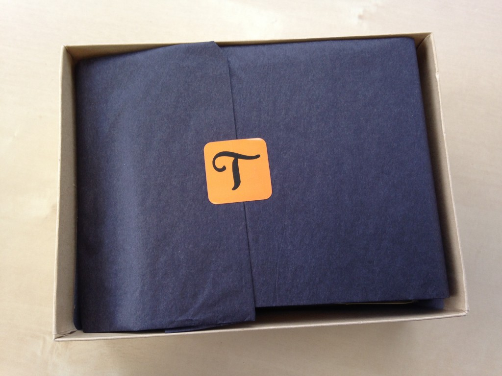 treatsie october box with halloween-themed tissue paper and sticker inside