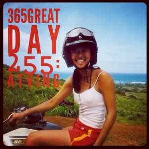 365great challenge day 255: atving