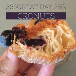 365great challenge day 256: cronuts