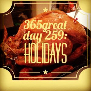 365great challenge day 259: holidays