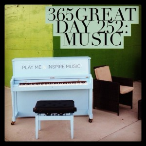 365great challenge day 252: music