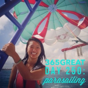 365great challenge day 250: parasailing