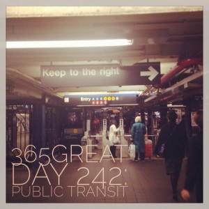 365great challenge day 242: public transit