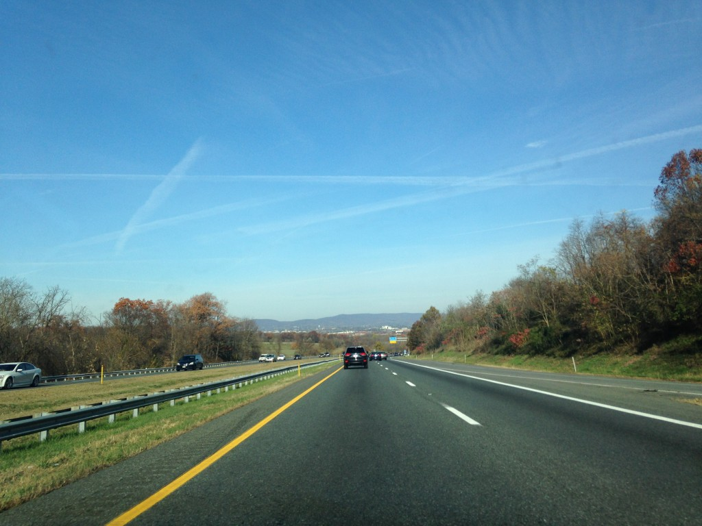 beautiful day for a road trip with clear blue skies and little traffic on the roads