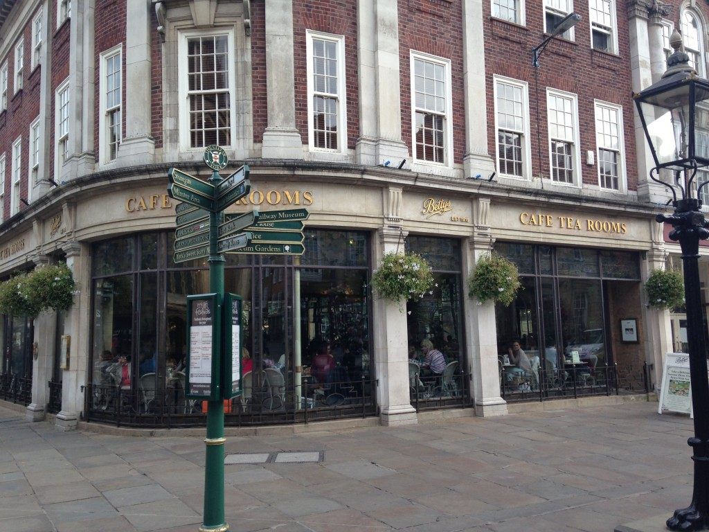 exterior view of betty's cafe tea rooms in york