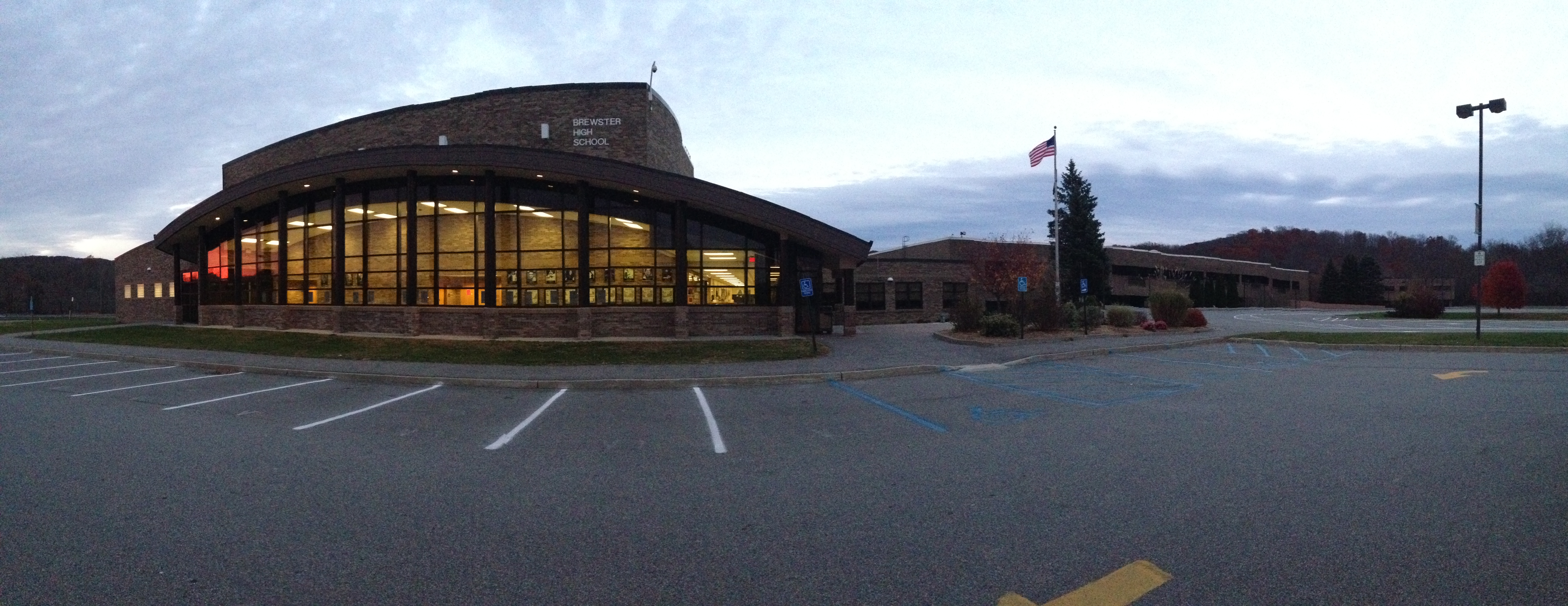2013 little fat notebook panoramic of brewster high school