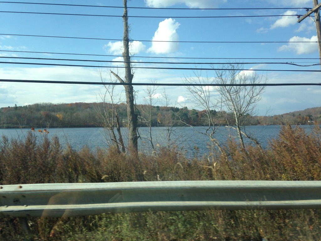 driving by lake in brewster new york area