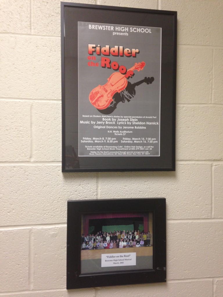 fidder on the roof poster and picture of cast from brewster high school 2002 performance