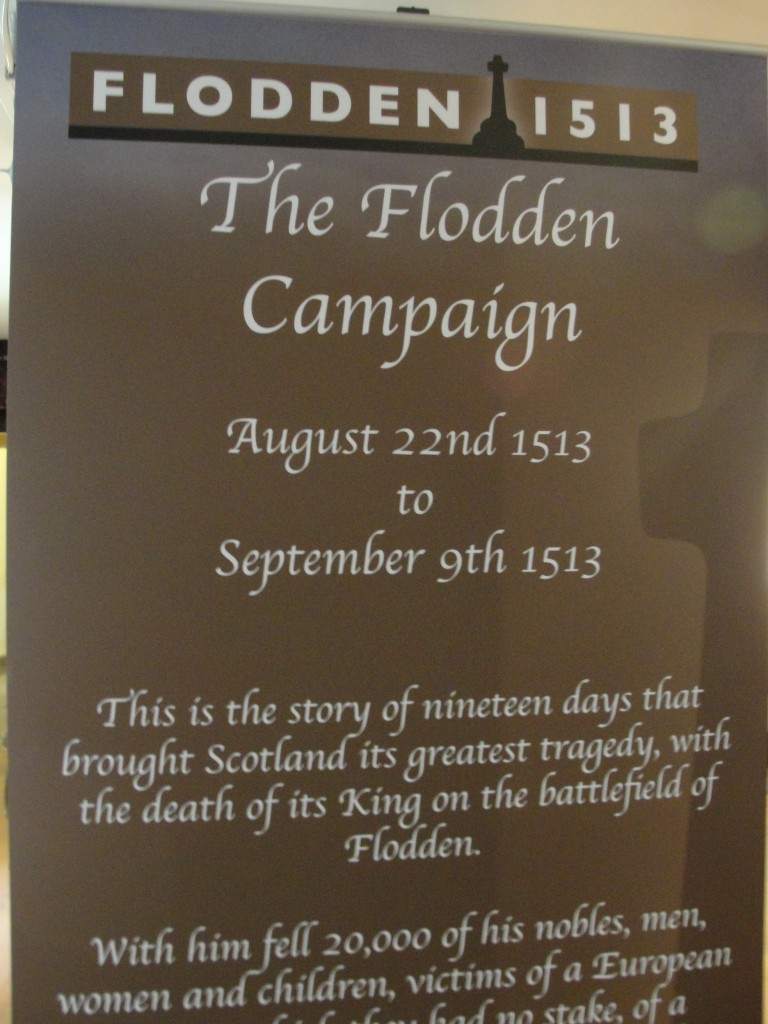 flodden campaign of 1513 sign in museum of edinburgh