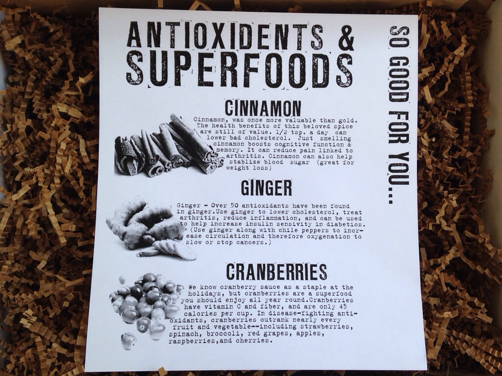 the homegrown collective october 2013 antioxidants & superfoods info card