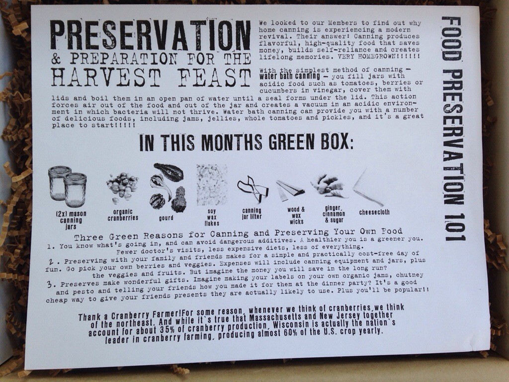 the homegrown collective october 2013 project food preservation 101 info card
