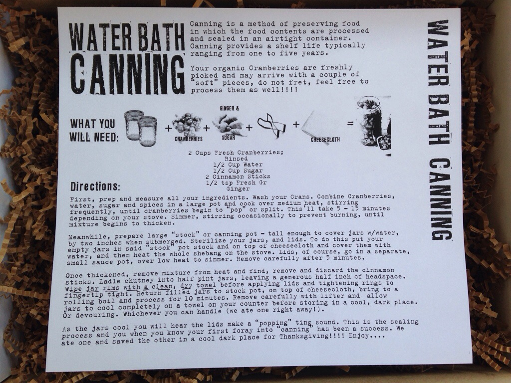 the homegrown collective october 2013 project water bath canning info card