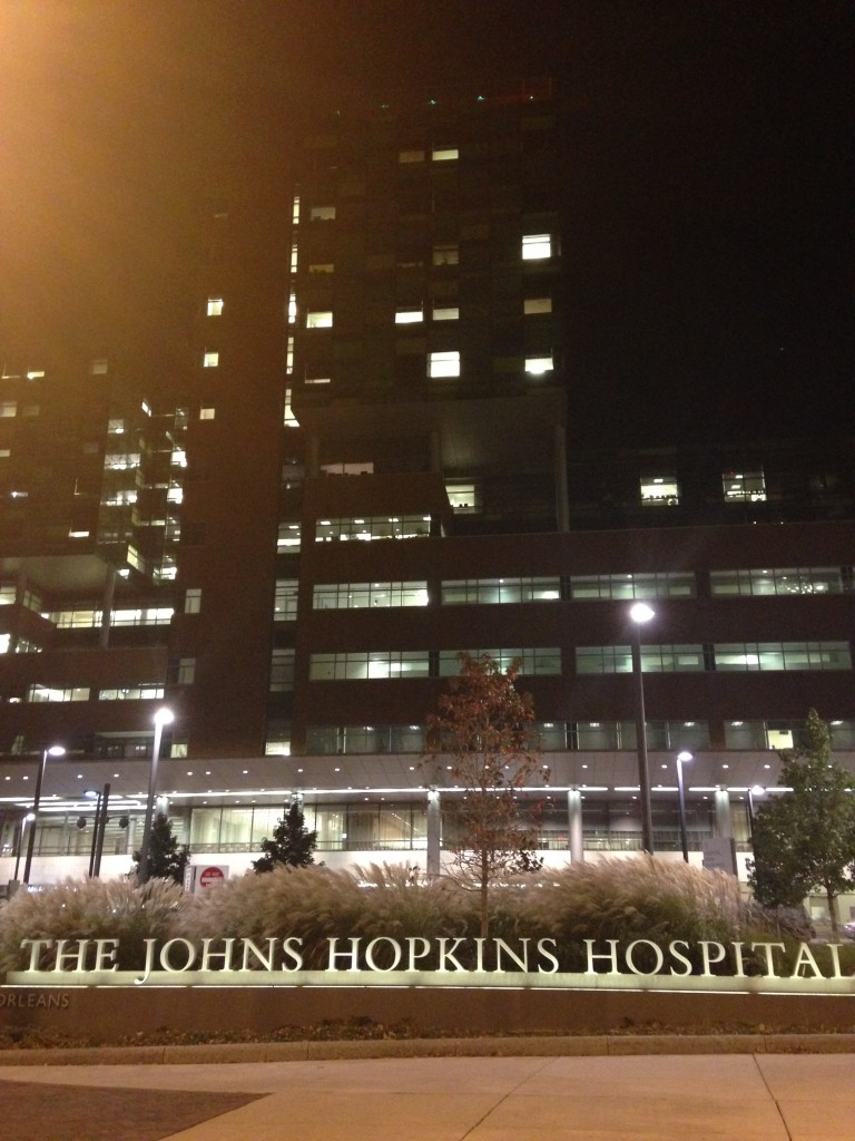johns hopkins hospital at night