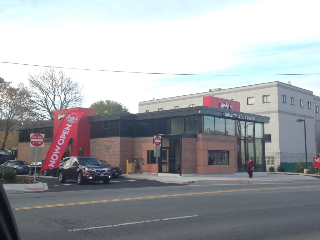 brand new wendy's building with very modern look