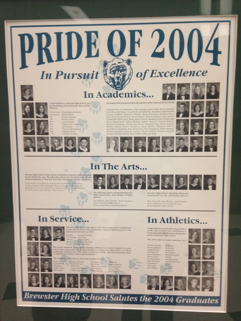 brewster high school pride of 2004 poster for graduating class
