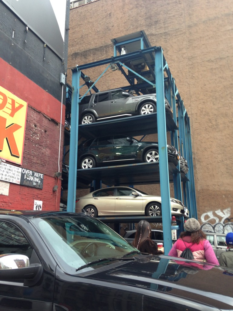 stacked parking in new york city