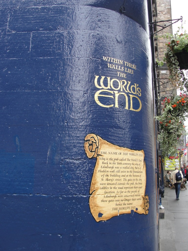 world's end painted on wall in edinburgh