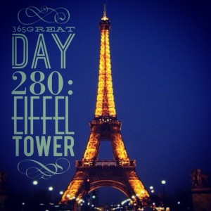365great challenge day 280: eiffel tower