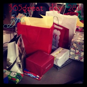 365great challenge day 281: gifts