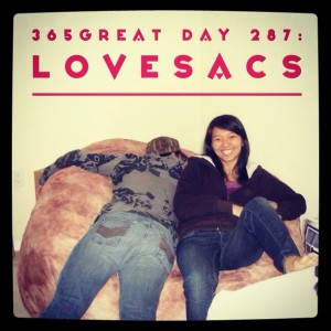 365great challenge day 287: lovesacs