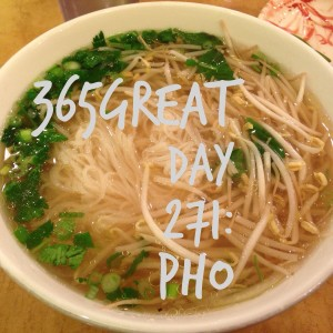 365great challenge day 271: pho