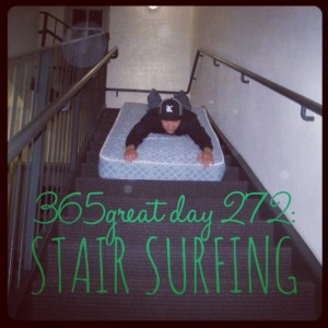 365great challenge day 272: stair surfing