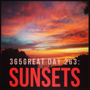 365great challenge day 263: sunsets