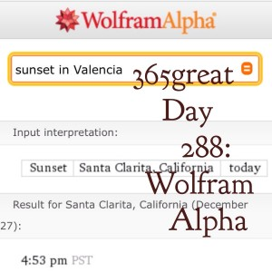 365great challenge day 288: wolfram alpha