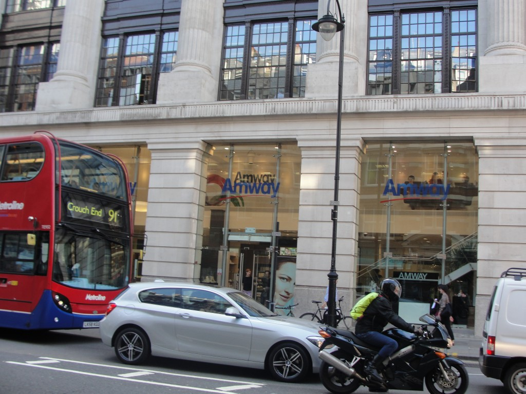 storefront of amway in london